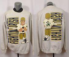 VTG Notre Dame Sweatshirt Nutmeg Football NCAA Fighting Irish XL 50/50 Blend