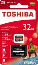 Toshiba 32GB Micro SD Memory Card EXCERIA With SD Adapter U3 4K