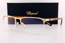 Brand New Chopard Eyeglass Frames VCH B74V 300L Gold/Wood Half Rimless Unisex