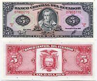UNC ECUADOR 100 SUCRES 1988 P123Aa PREFIX VU