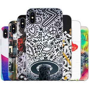 dessana Streetart TPU Silikon Schutz Hülle Case Handy Tasche Cover für Apple