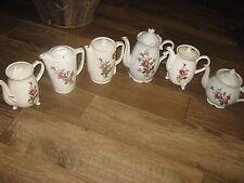 6 pcs Vintage Teapot Electic Non ElectricJapan Maruka Rose Graphic lots