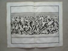 Combat Battle Romans Col. Trajan Ancient Relief Montfaucon copper plate 1719