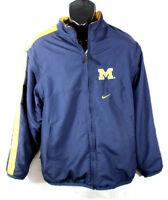 Nike Michigan Wolverines Mens Jacket Vest 2 N 1 NCAA University Lined Blue Sz M