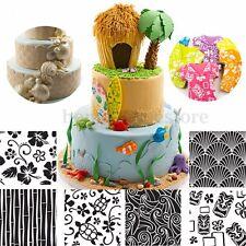 6Pcs Flower Texture Fondant Cake Mold Cupcake Sugarcraft Baking Mat Decor Tools