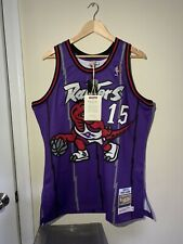Vince Carter Mitchell Ness Authentic Throwback Jersey Toronto Raptors 1998-1999