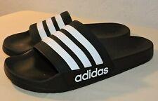 NEW Adidas Mens ADILETTE Shower Slides Black/White Sandal Water Size 13
