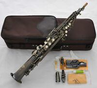 Professional TaiShan Antique Soprano Saxophone Bb High F# Straight Sax With Case