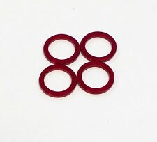 ChainRing Nut 1.5mm Alloy Alumium Spacer Kit, Red, 4 pcs