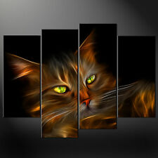 ABSTRACT CAT CANVAS WALL ART PICTURES PRINTS FREE UK POSTAGE