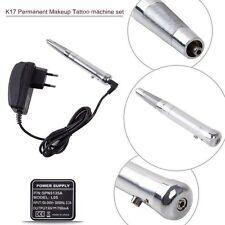 Permanent Makeup Eyebrow Tattoo Pen Machine Make up kit with 50 Needles 50 Tips