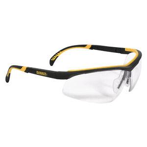 Dewalt DPG55-11D Clear Anti-Fog Protective Safety Glasses Rubber Frame/  Temples