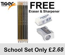 HB Pencils,  6HB + FREE STAEDTLER ERASER +FREE METAL SHARPENER