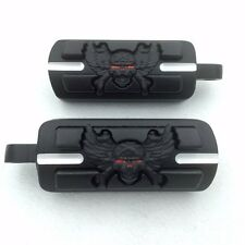 Black Skull Zombie Shape Foot Pegs Fits most models with H-D male mount-style