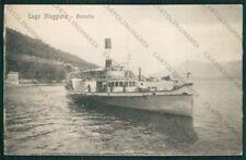 Verbania Lago Maggiore Battello cartolina ZC6245