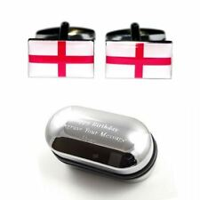 Inglese St George Cross Bandiera Gemelli & inciso scatola regalo