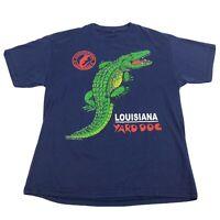 VTG 90S Louisiana Yard Dog Alligator T Shirt Graphic Predator Animal Tee Mens L