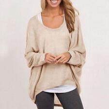 Fashion Women's Long Sleeve Loose Blouse Casual Shirt Summer Tops T-Shirt