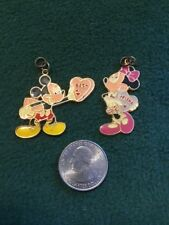 Vintage Disney AAI Mickey And Minnie Mouse Best Friend Pendants Valentines Mint