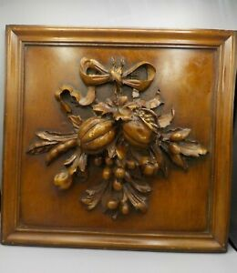 Jane Seymour Antique Look Walnut Raised Relief Wall Plaque Old English Decor #2