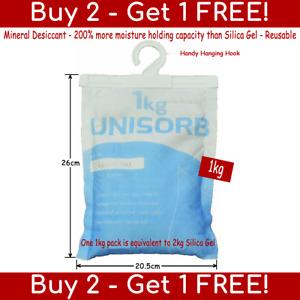 1kg Reusable Mineral Dessicant Moisture Absorber (silica gel/desiccant/damp/rid)