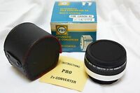 PRO Tele-Converter 2x Canon FD Mount Cameras AE in box with case, instructions