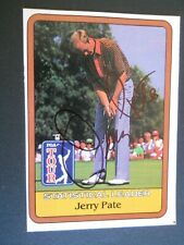 Jerry Pate - 1981 PGA Tour Leader Autographed Golf card - no number - Tour card