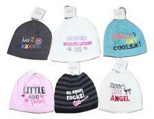 Newborn Kids Baby Beanie Hats Boys Girls Winter Cap Rock Angel Cool New Age 0-3