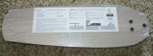 """Hunter Ceiling Fan 54"""" inch Snap On Reversible Blades Lt Gray Oak-Walnut Set 5"""