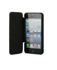 Luxury iPhone 5 / 5S / SE Handmade Leather Folio Case Cover  Black - UUNIQUE
