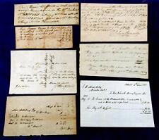 1842 - 1855 PHILADELPHIA Area (7) Handwritten Receipts - Land, Building Supplies