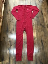 Carhartt Men's Classic Red Thermal Base Layer Union Suit Long Johns L