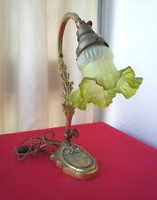 Superbe lampe Art nouveau en bronze