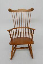 Vintage William Clinger Rocking Chair Artisan Dollhouse Miniature 1:12