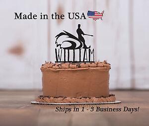 Water Skier Birthday Party, Cake Topper, Beach, Birthday Party Keepsake - LT1140