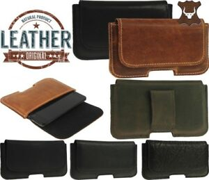 CLASSIC RIC WAIST POUCH HANDMADE GENUINE LEATHER BELT FIXED CASE COVER FOR PHONE