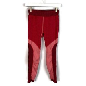 FP Movement by Free People High Rise 7/8 Length Pop Life Red Color Block Legging