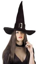 schwarzer Samt-Hexenhut mit Schnalle Hexe Hut Halloween