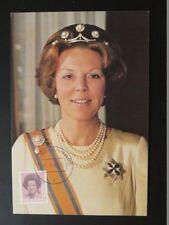 Queen Beatrix maximum card Netherlands 72259