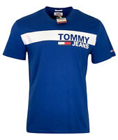 Tommy Hilfiger Men's Crew Neck Cotton Tommy Jeans T-Shirt - Regular Fit - Blue