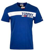 Tommy Hilfiger Men's Crew Neck Cotton Tommy Jeans T-Shirt - Regular Fit - Blue