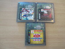 lot de 3 jeux game boy color yu-gi-oh! & beyblade jeux en japonais