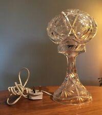 "ALL CRYSTAL( BASE & SHADE )  COUNTRY HOUSE MUSHROOM TABLE LAMP  12"" TALL"