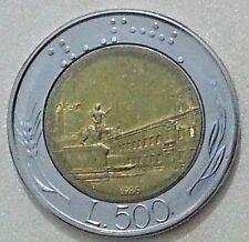 MONETE REPUBBLICA ITALIANA 500 LIRE 1985 FIRMA GRANDE