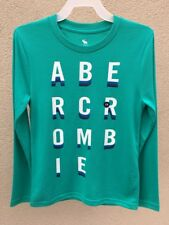 ABERCROMBIE KIDS BOYS Shirt NWT Size 7/8 Green NEW Long sleeve