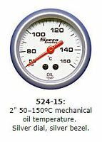 Speco 2'' ( 50mm ) 50 -150c Mechanical Oil Temperature Gauge  P/N 524-15