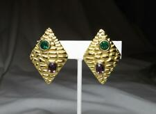 Jackie Collins Estate Earrings Art Deco Rhinestone Paste Monumental Celebrity Other Entertainment Mem