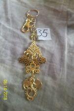 purse jewlrey gold color dragon keychain backpack filigree dangle charm #35