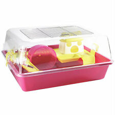 Pet Ting Hamster/Gerbil Cage - Easy to Carry and Clean, Fun for your pet - Pink