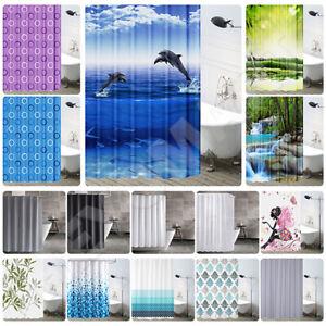 Tenda per doccia vasca da bagno impermeabile pvc con 12 ganci 230 x 200 cm
